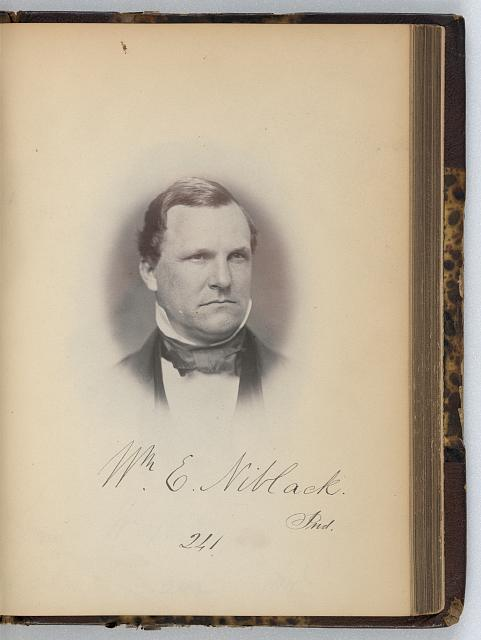 [William E. Niblack, Representative from Indiana, Thirty-fifth Congress, half-length portrait]
