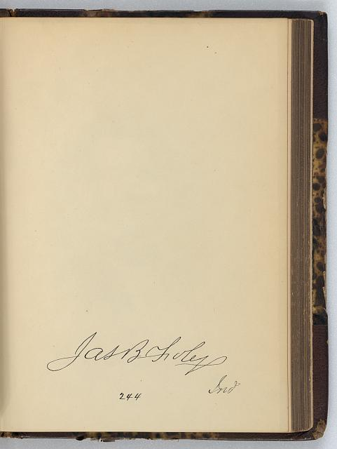 [James B. Foley, Representative from Indiana, Thirty-fifth Congress, original signature]