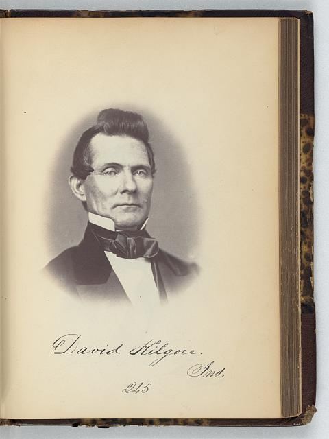 [David Kilgore, Representative from Indiana, Thirty-fifth Congress, half-length portrait]