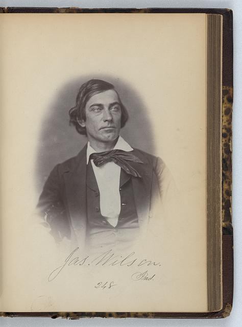 [James Wilson, Representative from Indiana, Thirty-fifth Congress, half-length portrait]