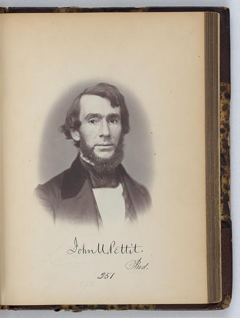 [John U. Pettit, Representative from Indiana, Thirty-fifth Congress, half-length portrait]