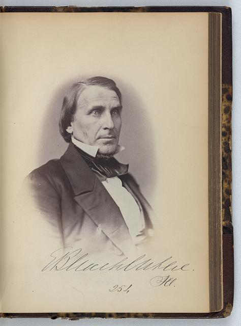 [Elihu B. Washburne, Representative from Illinois, Thirty-fifth Congress, half-length portrait]