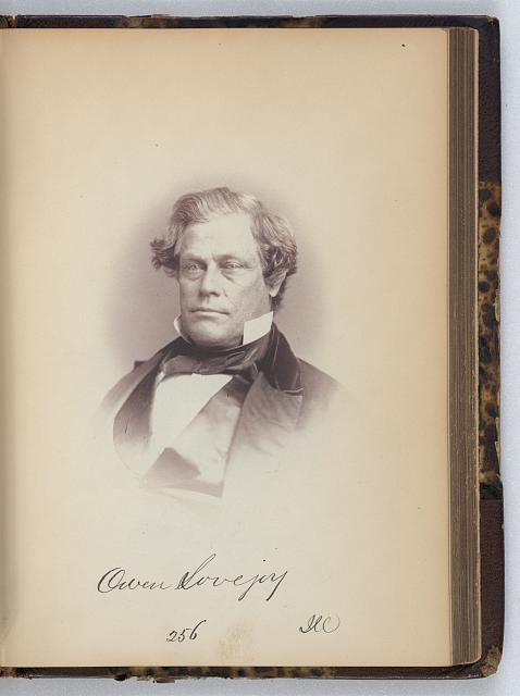 [Owen Lovejoy, Representative from Illinois, Thirty-fifth Congress, half-length portrait]