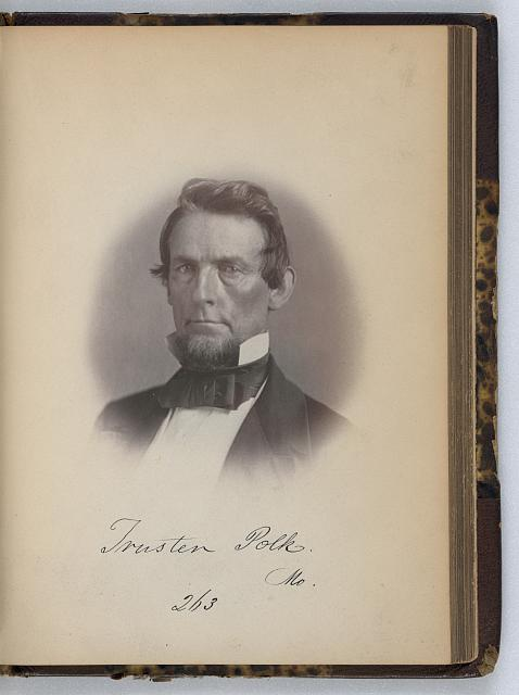 [Trusten Polk, Senator from Missouri, Thirty-fifth Congress, half-length portrait]