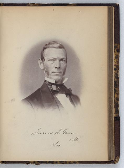 [James S. Green, Senator from Missouri, Thirty-fifth Congress, half-length portrait]
