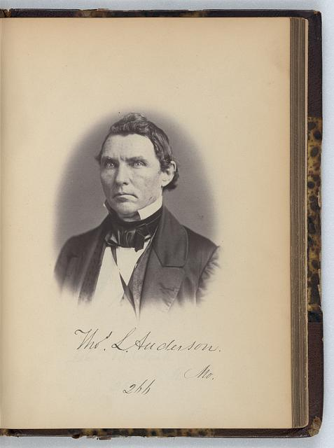 [Thomas L. Anderson, Representative from Missouri, Thirty-fifth Congress, half-length portrait]