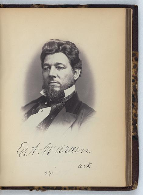 [Edward A. Warren, Representative from Arkansas, Thirty-fifth Congress, half-length portrait]