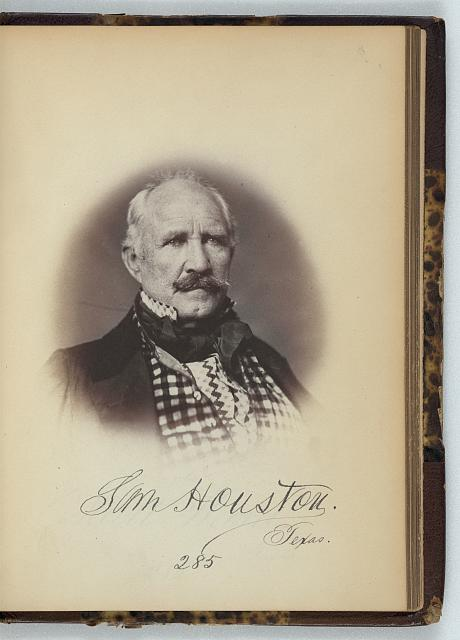 [Sam Houston, Senator from Texas, Thirty-fifth Congress, half-length portrait]