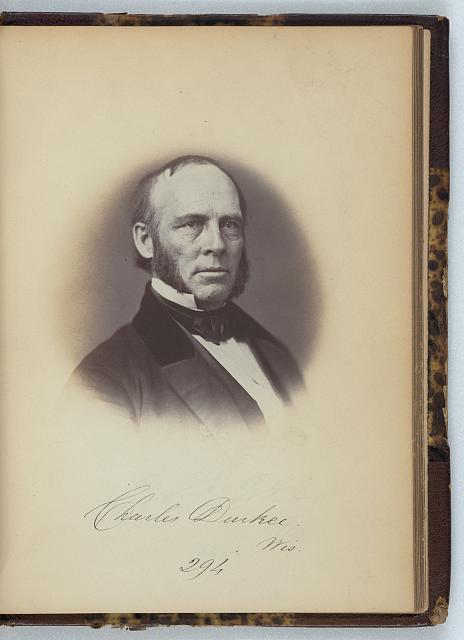[Charles Durkee, Senator from Wisconsin, Thirty-fifth Congress, half-length portrait]