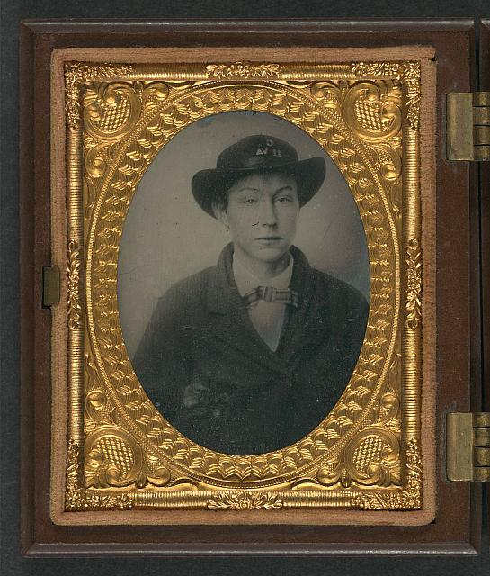[Unidentified young soldier in Confederate uniform with Company C, 11th Virginia Regiment slouch hat]