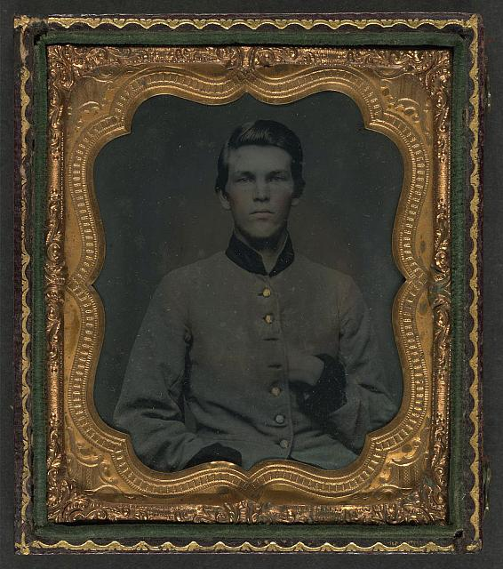 [Unidentified soldier in Confederate uniform]