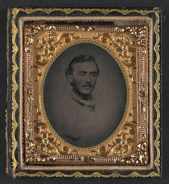 [Unidentified soldier in Confederate jacket]