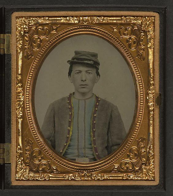 [Unidentified young soldier in Union Zouave uniform]