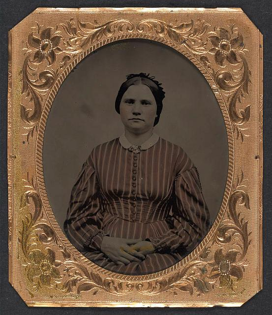 [Mary Bannister, wife of Private George H. Bannister of Company H, 13th New Hampshire Infantry Regiment]