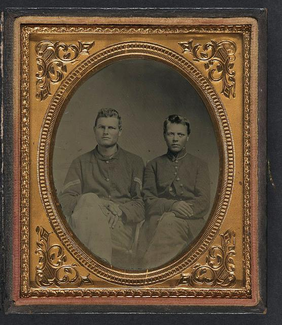 [Two unidentified soldiers in Union uniforms; one soldier wears corporal's chevrons]