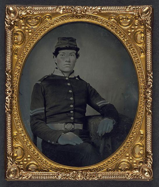 [Unidentified soldier in Union corporal&#39;s uniform]