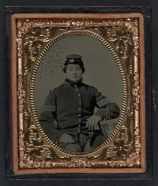 [Unidentified soldier in Union sergeant&#39;s uniform]