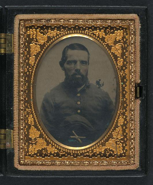 [Unidentified soldier in Union uniform with artillery forage cap]