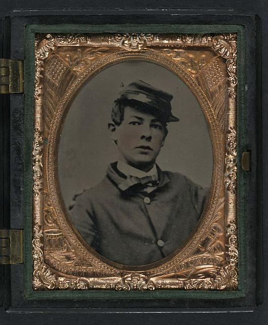 [Drummer Louis D. B. Somerby of Company A, 48th Massachusetts Infantry Regiment and Company M, 2nd Massachusetts Heavy Artillery Regiment]