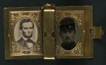 digital file from original item, photos of Lincoln and soldier