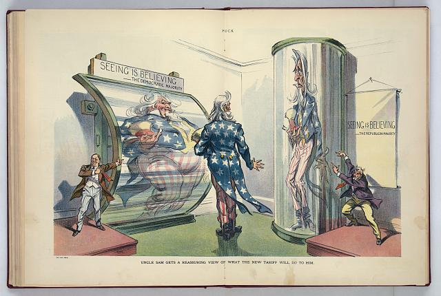 Uncle Sam gets a reassuring view of what the new tariff will do to him
