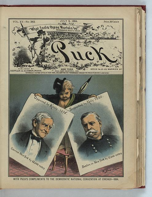 With Puck's compliments to the Democratic National Convention at Chicago - 1884