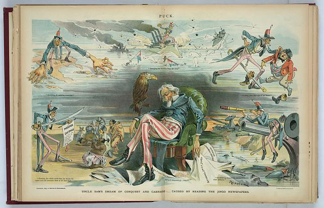 Uncle Sam's dream of conquest and carnage - caused by reading the Jingo newspapers