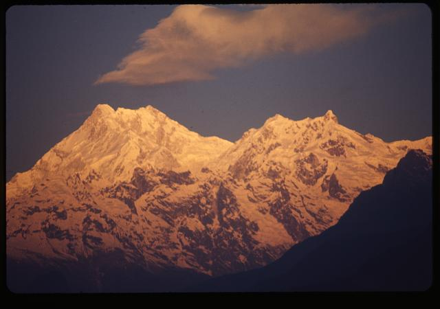 [Mount Kānchenjunga, third highest mountain in the world]