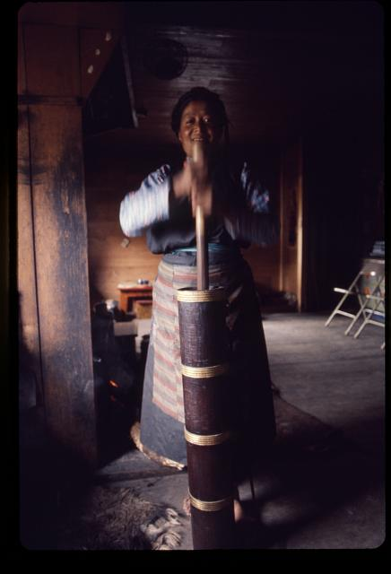 [Woman churning yak-butter tea, Sikkim]