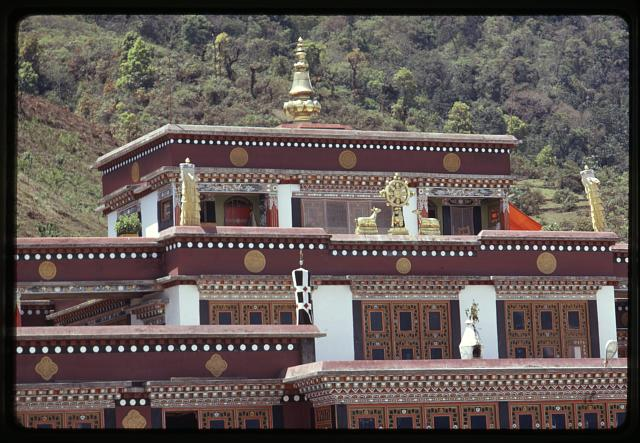 [Top of Rumtek Monastery's roof, Sikkim]