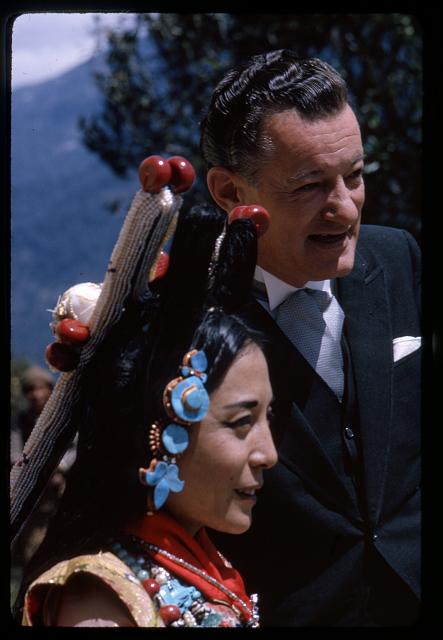 [Princess, sister of the King, with a coronation guest, Gangtok, Sikkim]
