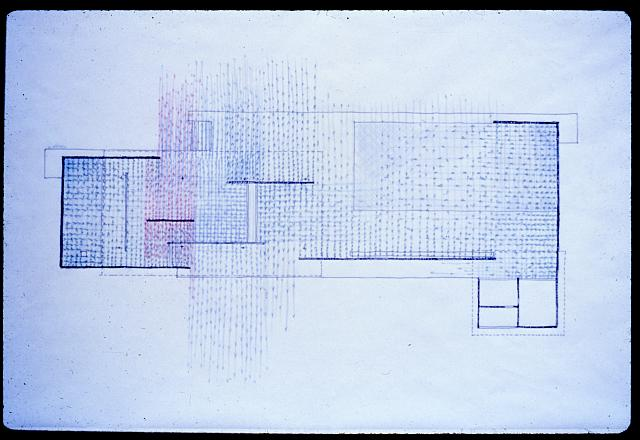 [Barcelona Pavilion study drawing by Paul Rudolph]