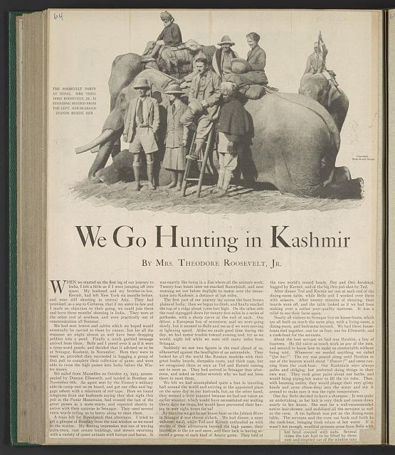 We go hunting in Kashmir