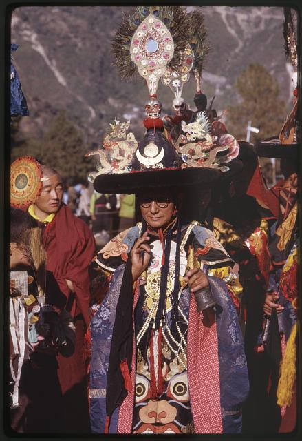 Black Hat dance: Lama chants, Sikkim