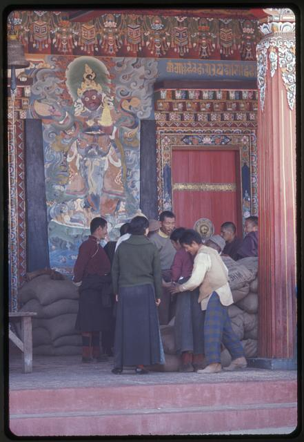 USA aid wheat distributed at Rumtek Monastery