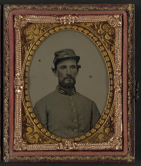 [Unidentified soldier in Confederate 1st Lieutenant uniform]