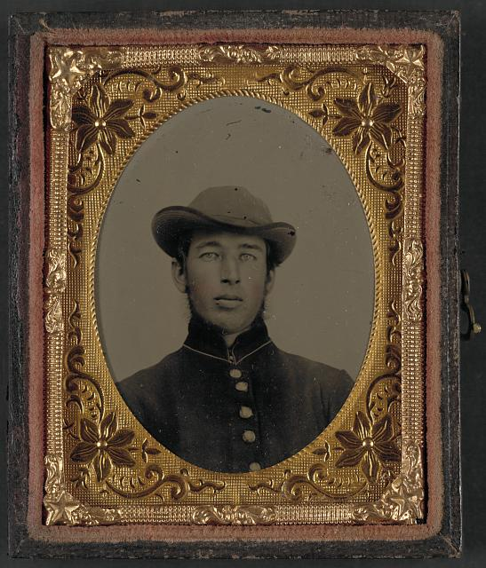 [Unidentified soldier in uniform and hat]