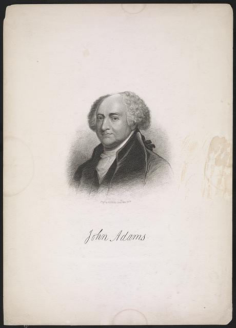 [John Adams, bust portrait, facing left]