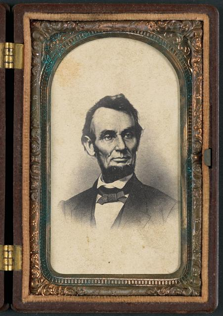 [Portrait of Abraham Lincoln in thermoplastic case]