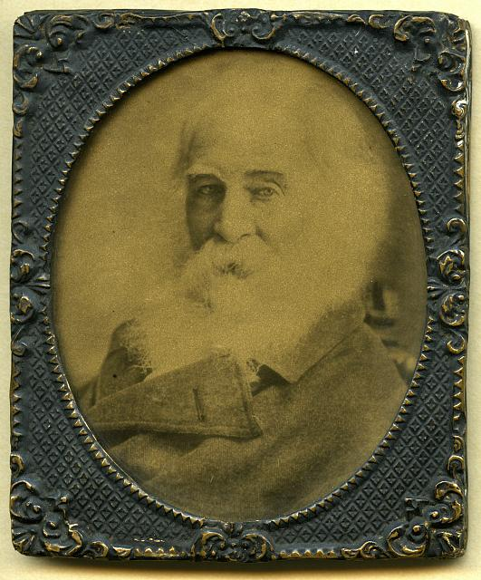 Portrait of Walt Whitman at seventy