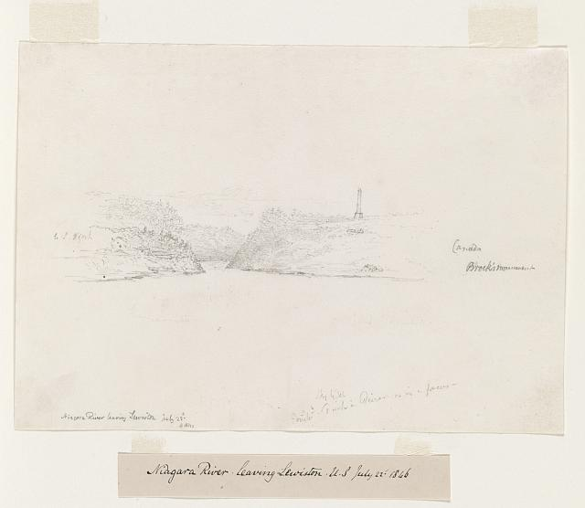 Niagara River leaving Lewiston, U.S. July 22nd 1846