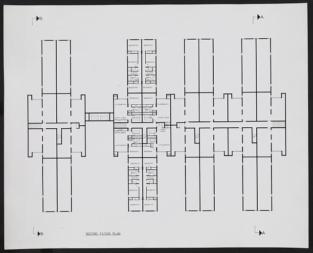 [Fort Lincoln housing, Washington, D.C. (project). Mid-rise housing. Second floor plan]