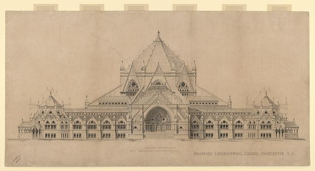 "[Library of Congress (""Congressional Library""), Washington, D.C. Front elevation]"