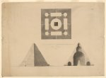 Architectural drawing for the Washington Monument, Washington, D.C. [Peter Force] (1837)
