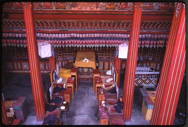 Rumtek Monastery, great hall, Sikkim