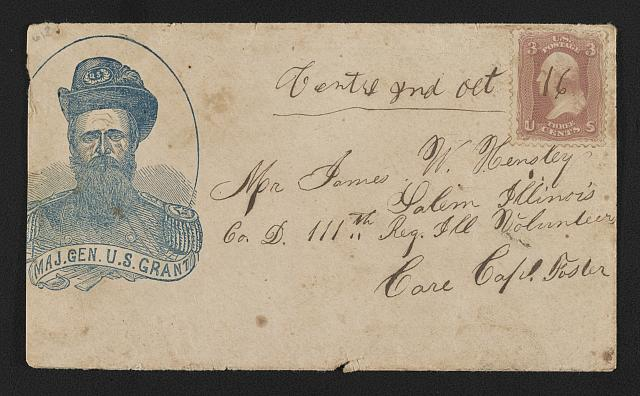 [Civil War envelope showing portrait of Maj. Gen. U.S. Grant]