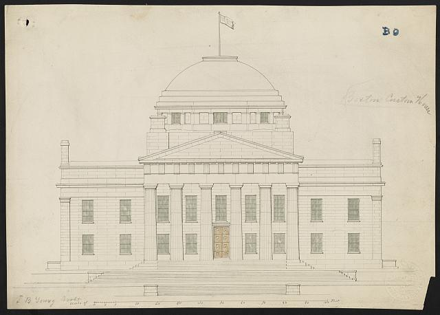[U.S. custom house, Boston, Massachusetts. Elevation]