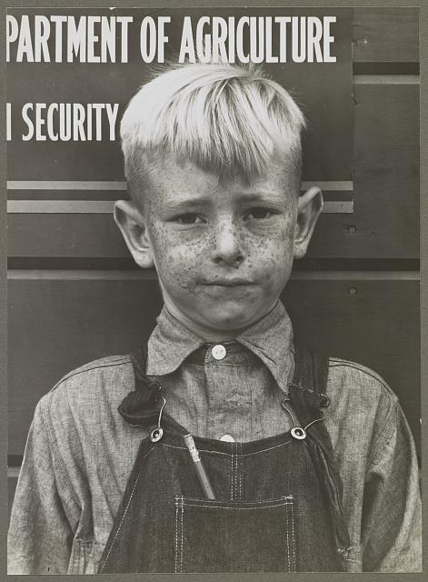 Migrant boy. Tulare migrant camp. Visalia, California