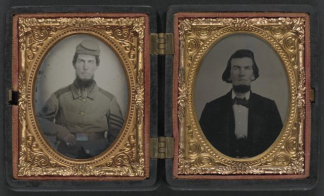 [Chaplain Robert Bean Sutton of the Army of Northern Virginia in uniform and after the war]