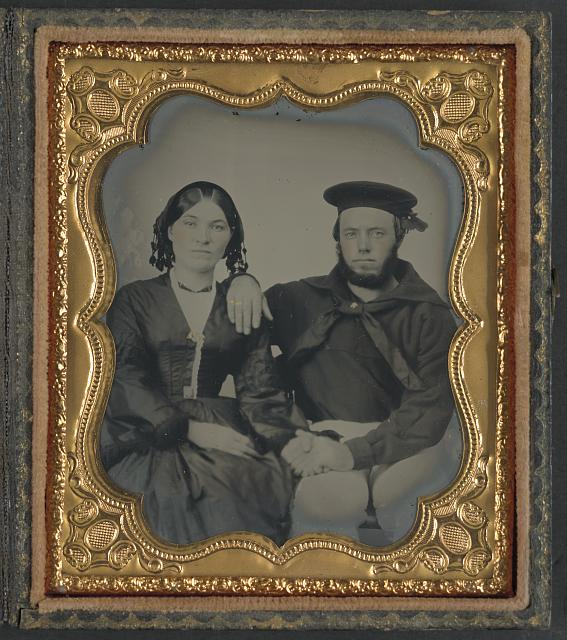 [Unidentified sailor with his wife]